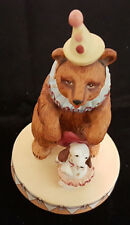 """Dancing Bear Figurine with A Puppy Circus Royale 9611 Wallace Berrie 5"""" Vintage"""