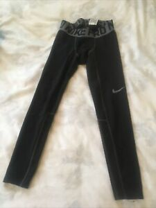 Nike Pro Compression Pants Youth Boys Size Small Black