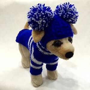 Handmade Knit Clothes Sweater and Hat for Dogs / Pets Size XXS, XS, S