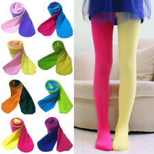Kids Girls Candy Color Ballet Dance Pants Stitching Color Tight Pantyhose