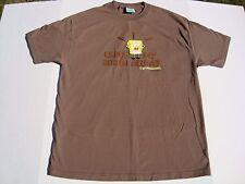 Rare 2001 Nickelodeon Spongebob Squarepants Brown Tee Hillenburg Brain XL NWOT