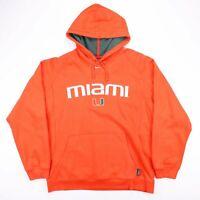 Vintage NIKE University of Miami USA Orange Hoodie Size Men's Large