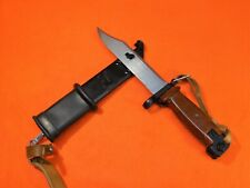 POLISH TYPE II WASR KNIFE BLADE - BAYONET & SCABBARD WITH FROG 0896