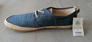 VERBENAS Herren Espadrilles Sommer Sneaker Kent Schnürer Jeans blau Gr. 45 NEU