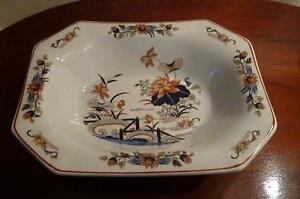 """Wedgwood Lotus Georgetown collection Open Octagonal Vegetable Dish 10 x 7 """""""