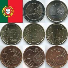Portugal Euromünzen von 2002 bis 2020, unzirkuliert/bankfrisch