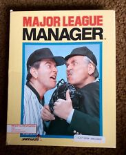 Major League Manager PC Game 1986 Baseball Box 3.5 inch disk