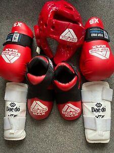 Youths Childs ITF Taekwondo Top Pro sparring kit lot