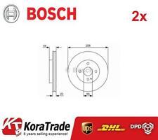2x BOSCH 0986479541 FRONT OE QUALITY BRAKE DISC SET