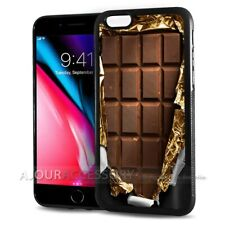 ( For iPhone 7 ) Back Case Cover AJ10390 Chocolate