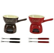 L@@K Ceramic Chocolate Fondue Mason Jar Chocolate Gift Set With Fork L@@K