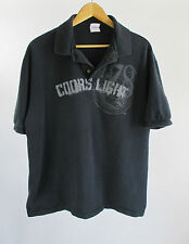 Coors Light 78 Graphic Hanes Stedman Black Golf Polo Shirt Size XL