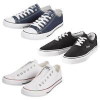 Mens Lace Up Casual Canvas Shoes Trainers Pumps Plimsolls Size 7 8 9 10 11 11.5