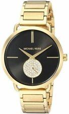 Michael Kors Portia Black Dial Gold Tone Stainless Steel Women's Watch MK3788