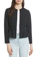 NWOT REBECCA TAYLOR Ava Peplum Jacket In Black Size 12 Retail $395