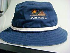 NEW Legendary Navy Blue Embroidered PGA West Medium Golf Hat w/ Full Brim (B861)