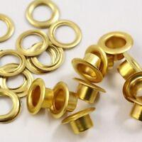 SOLID BRASS 5mm EYELETS & WASHERS BELT HANDBAG LEATHERCRAFTS CLS292