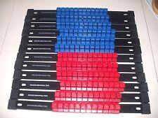 "12 Piece GOLIATH TOOL MOUNTABLE Socket Rail Organizer 1/2"" 6 Each Blue/Red"