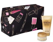 Avon Anew Ultimate Day Cream  & Cleanser Travel Size + Cosmetic Makeup BAG