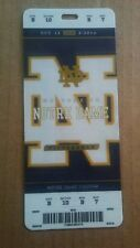 2018 Notre Dame Fighting Irish vs Pittsburgh Panthers Football Plastic Ticket