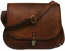Womens Sling Genuine Leather Saddle Shoulder Bag Crossbody Vintage Travel Purse