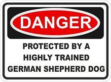 Race berger allemand chien danger autocollant animal pour pare-chocs casier porte voiture locker