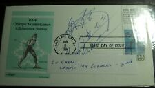 FIVE1994 OLYMPICS AUTOGRAPHED BY THE ATHLETE'S FIRST DAY COVERS