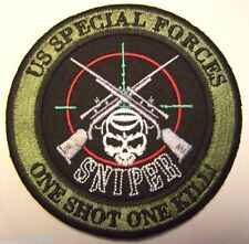 United States Army Special Forces Sniper Patch (One Shot One Kill) Color