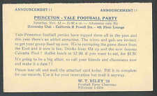 1949 PC Princeton Yale Football Party San Fran Ca Dinner & Drinks