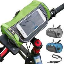 Borsa Manubrio Bicicletta Bici Tasca Touch Navigatore Smartphone Tracolla 3 col