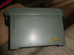 Plano Ammo Field Box,Green,For .50 Caliber Ammo Storage,Water-Resistant Small