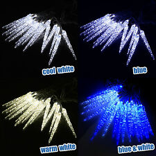 led icicle lights frozen snowfall effect xmas outdoor christmas lights 10 metre