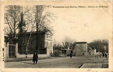 CPA   Fontaines-sur-Saone (Rhone) -Station du Tramway  (451078)