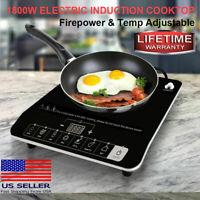 EASEPOT 1800W Induction Cooktop Digital Portable Cooker Countertop Burner Plate
