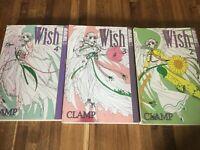 Wish Tokyopop Manga Clamp series #'s 2, 3, 4 Fantasy animated age 13+