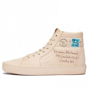 Women Vans Sk8 HI Vivienne Westwood Letter Skate Shoes Size 7.5 Veggie Tan