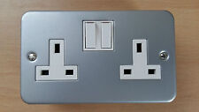 2 Gang 13A Metal Clad Switch Socket Electrical Plug Switch Back Box Great Value!