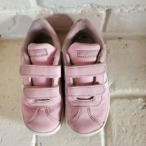 adidas VL Court 2.0 CMF Toddler Sneakers Pink Girls 8K