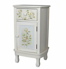 Bedside Tables Country Style Night Table Rose Pattern Nightstand Side Table
