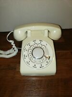 AT&T Rotary Dial Desk Phone White - Vintage