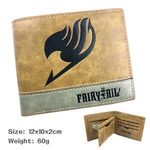 Anime Fairy Tail Khaki PU Leather Cartoon Card Wallet Purse Clip Birthday Gift