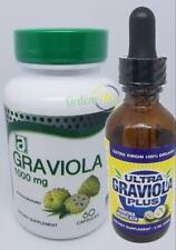 GRAVIOLA EXTRACT 1000mg Cap Guanabana Annona Muricata  Drops Immune Antioxidante