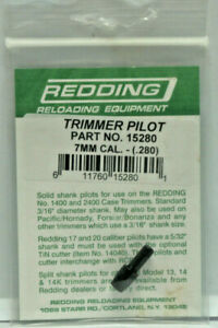 Redding Trimmer Pilot 7mm Caliber .280 Diameter pn: 15280 New