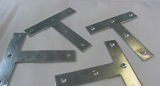 "4 x  100mm (4"")  TEE PLATES - REPAIR PLATES - ZINC PLATED"