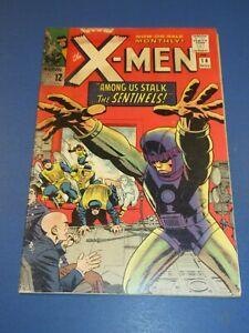 Uncanny X-men #14 Silver age 1st Sentinels Lower Grade