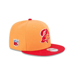 Tampa Bay Buccaneers NFL New Era Retro 9FIFTY Snapback Hat-Orange/Red