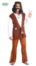 Costume Hippie Travestimento Uomo Figlio dei Fiori Anni '60 '70 Carnevale TG M