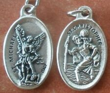 Saint Michael (the Archangel) & St. Christopher Medal + Protection, Safe Travel
