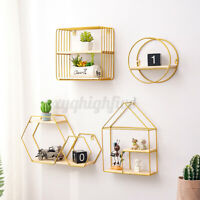 Wall Mounted Hanging Shelf Display Rack Storage Organizer Office Room Home  C