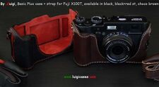 LUIGI BASIC PLUS CASE+STRAP+UPS/DHL for FUJI X100T,BLACK OR CHOCO,REDUCED PRICE.